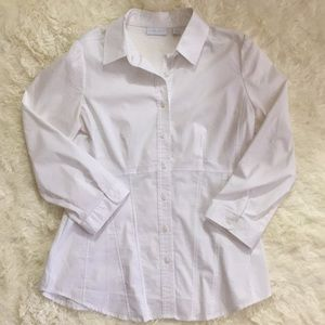 NY&C white button down shirt